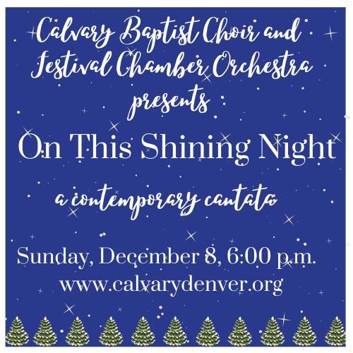 Calvary Christmas Concert 2020 Christmas Concert & Holiday Reception